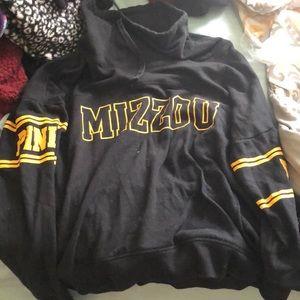 Mizzou/pink hoodie